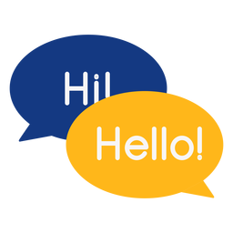 Burbujas de saludo de conversación