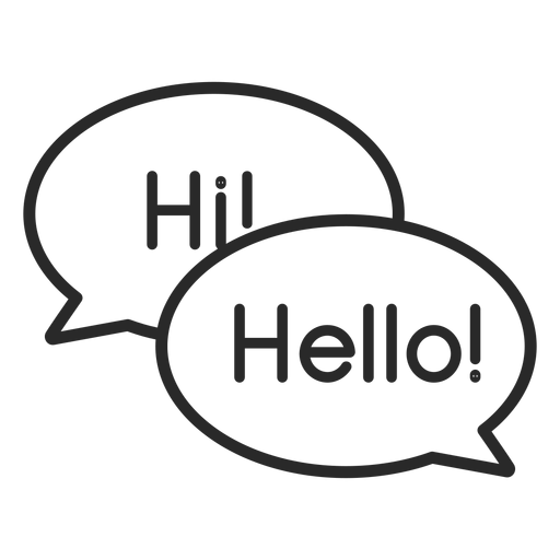 Trazo de burbujas de saludo de conversación