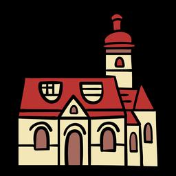 Croatian church hand drawn