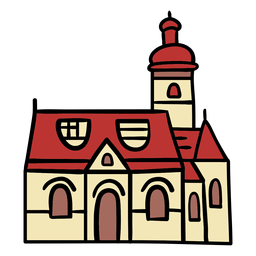 Dibujado a mano iglesia croata