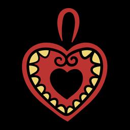 Ilustración de plato de corazón croata