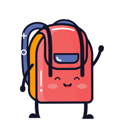 Cute backpack cartoon