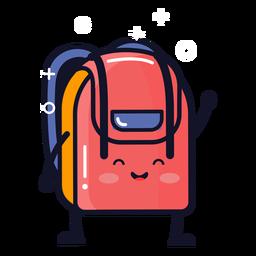 Cute backpack cartoon