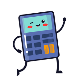 Cute calculator cartoon
