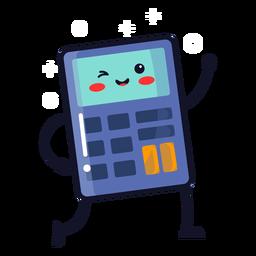Dibujos animados lindo calculadora
