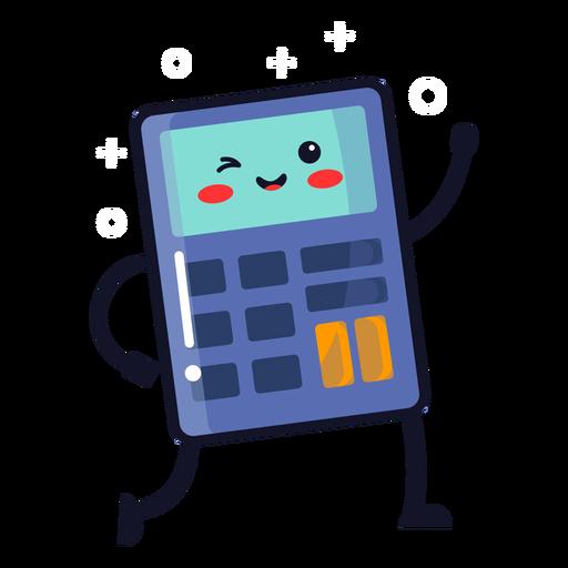 Cute calculator cartoon