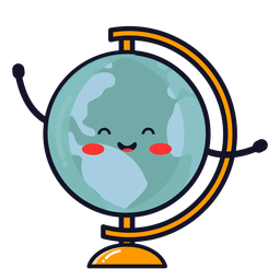 Cute earth globe cartoon