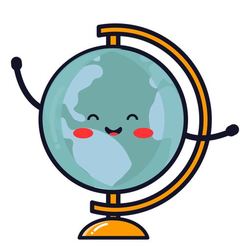 Cute earth globe cartoon