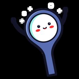 Cute magnifying glass cartoon