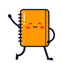 Cute notebook cartoon