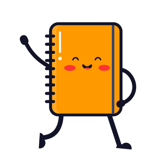 Dibujos animados lindo cuaderno