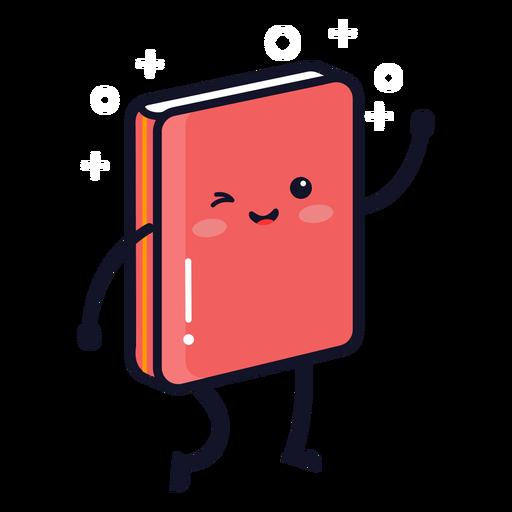 Dibujos animados lindo libro de texto