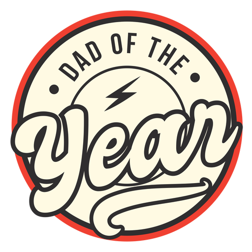 Dad of the year badge