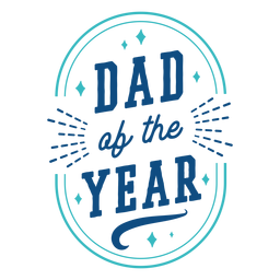 Insignia azul del papá del año