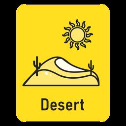 Cartão amarelo do deserto