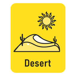 Desert yellow flashcard