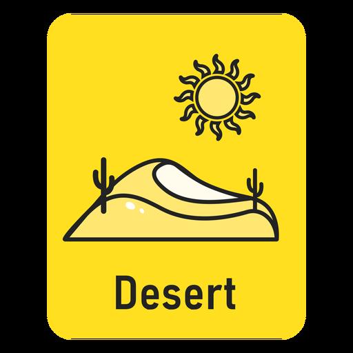 Desert yellow flashcard