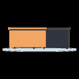 Diagonale Ansicht Schreibtisch Illustration