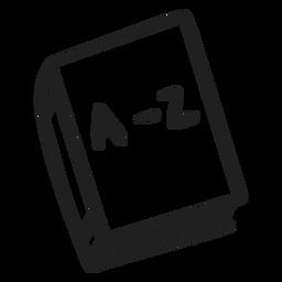 Doodle de livro de dicionário