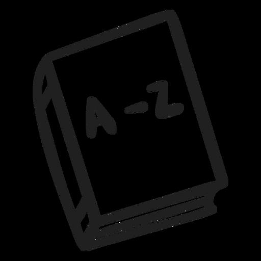 Doodle de libro de diccionario