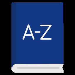 Libro de diccionario plano