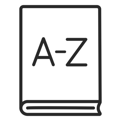 Dictionary book stroke
