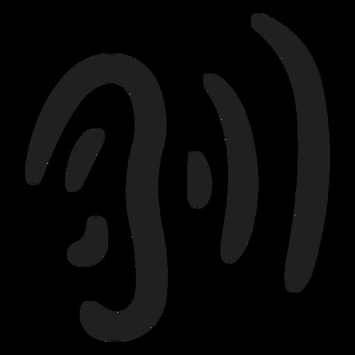 Ear hearing doodle