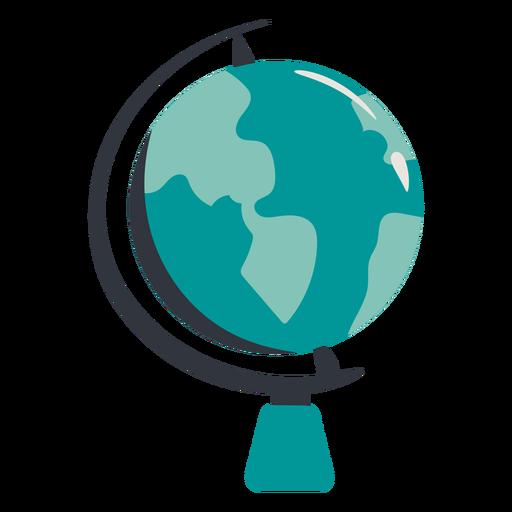 Earth globe hand drawn