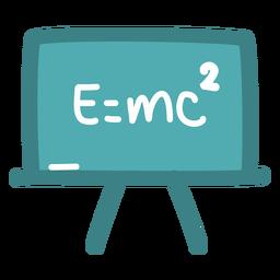 Pizarra de fórmula de Einstein