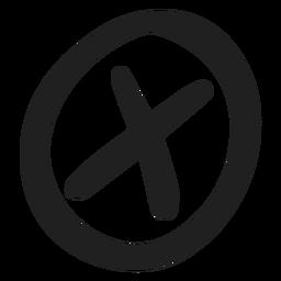 Encircled x mark doodle