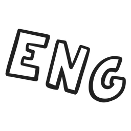 English abreviation lettering