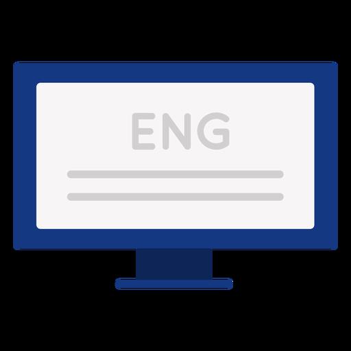 English computer text flat
