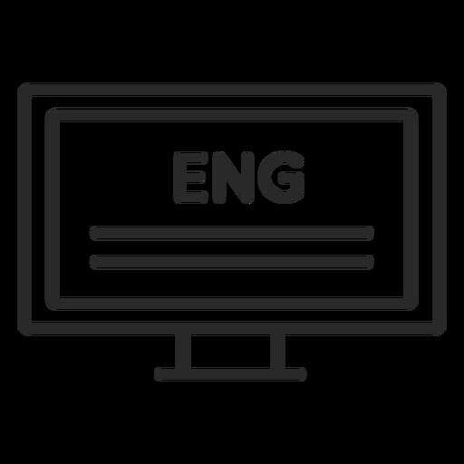 English computer text stroke