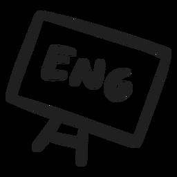 Inglês no quadro Sarrabisco