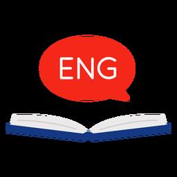 Libro abierto en inglés