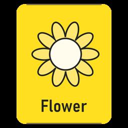 Cartão de flor amarela