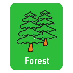 Forest green flashcard