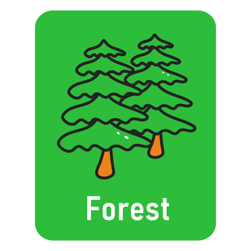 Forest green flashcard Transparent PNG