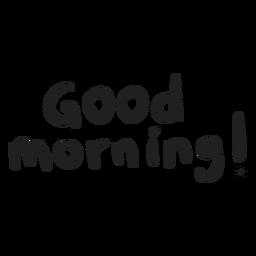 Bom dia letras de doodle