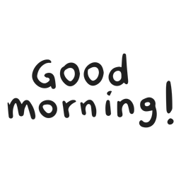 Buenos días doodle letras