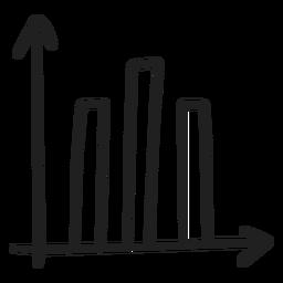 Doodle de barras de gráfico