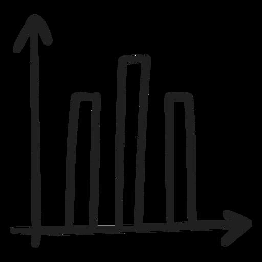 Graph bars doodle