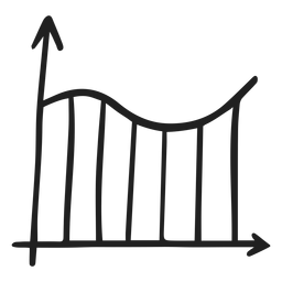 Doodle de curva de gráfico