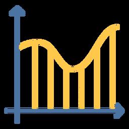 Graph curve flat