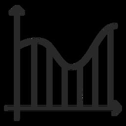 Graph curve stroke