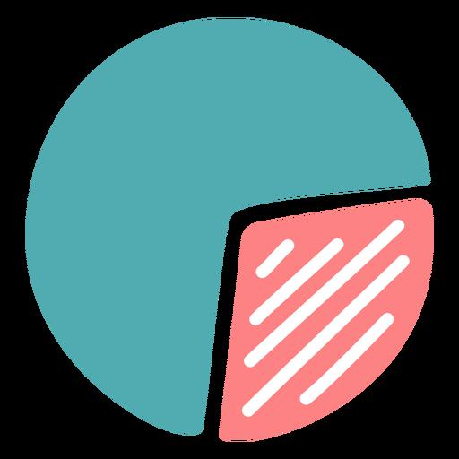 Graphic pie flat