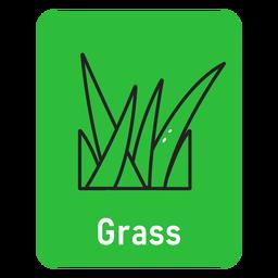 Cartão de grama verde