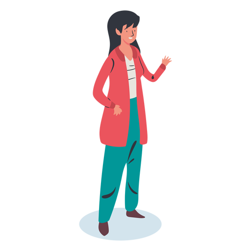 Greeting woman character Transparent PNG