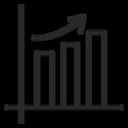 Gráfico de barras de trazo creciente