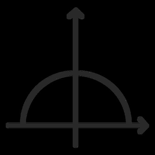 Half circle function stroke Transparent PNG